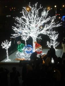 中の島の光る木、まさに芸術品
